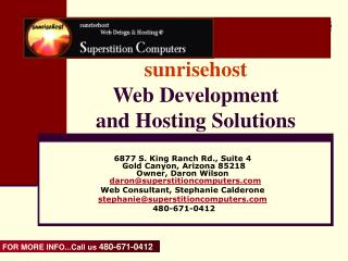 sunrisehost Web Development  and Hosting Solutions