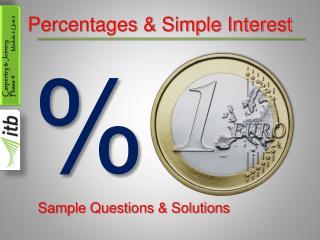 Percentages & Simple Interest