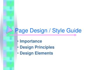 Page Design / Style Guide