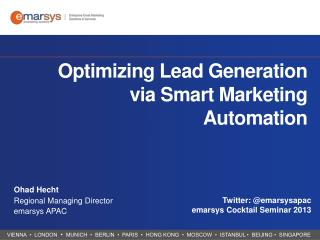 Optimizing Lead Generation via Smart Marketing Automation