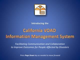 Facilitating Communication and Collaboration  to Improve Outcomes for People Affected by Disasters