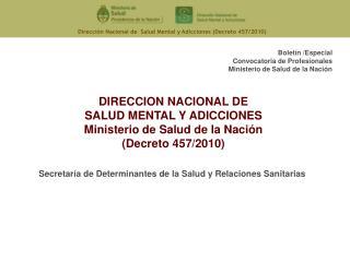 Secretaría de Determinantes de la Salud y Relaciones Sanitarias