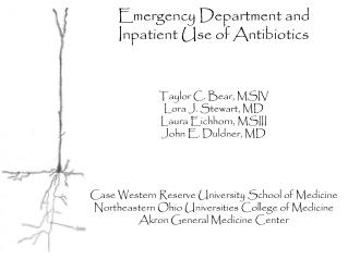 Emergency Department and Inpatient Use of Antibiotics