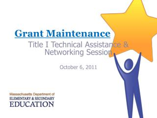 Grant Maintenance