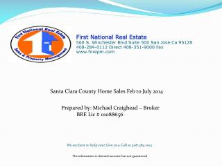 Prepared by: Michael Craighead – Broker            BRE Lic # 01088656