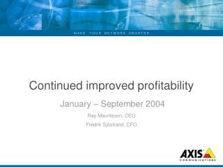 Continued improved profitability