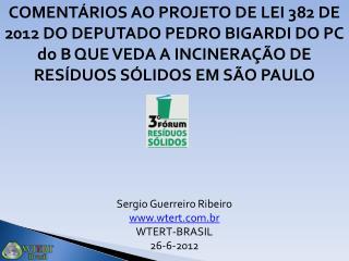 PROJETO DE LEI Nº 382, DE 2012