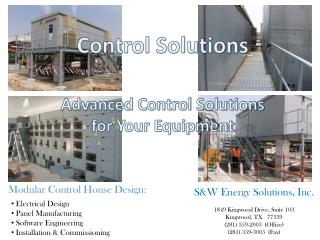 Electrical Design  Panel Manufacturing  Software Engineering  Installation & Commissioning