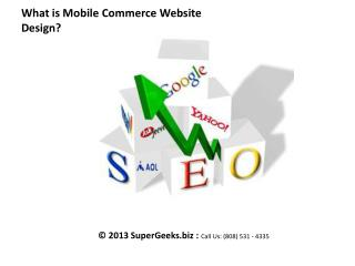 What is Mobile Commerce Website Design?
