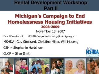 Rental Development Workshop Part II
