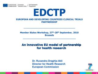 EDCTP EUROPEAN AND DEVELOPING COUNTRIES CLINICAL TRIALS PARTNERSHIP