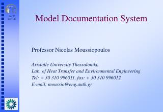 Model Documentation System