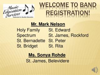 Welcome to Band Registration!