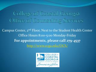 College of Coastal Georgia Office of Counseling Services