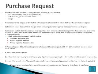 Purchase Request