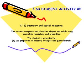 (7.6) Geometry and spatial reasoning.