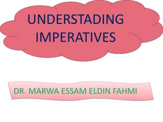 UNDERSTADING IMPERATIVES
