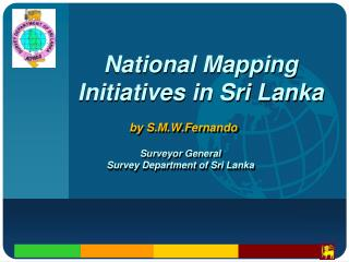 National Mapping Initiatives in Sri Lanka