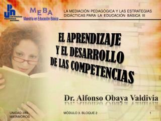 El aprendizaje  y el desarrollo  de las competencias