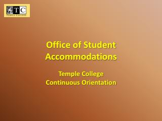 Office of Student Accommodations