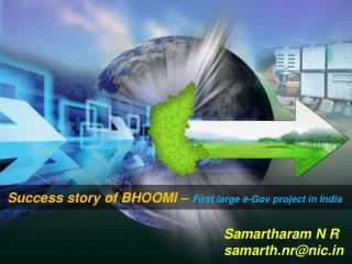Success story of BHOOMI –  First large e-Gov project in India