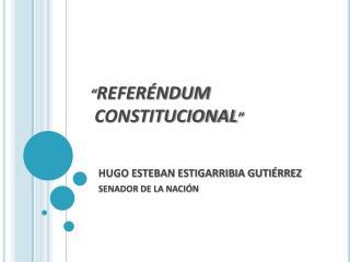 """ REFERÉNDUM  CONSTITUCIONAL """