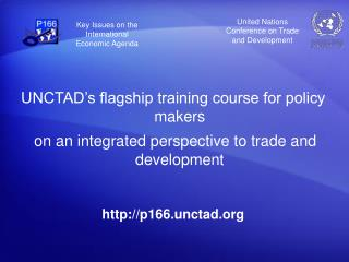 UNCTAD's flagship training course for policy makers