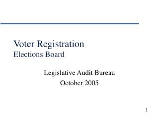 Voter Registration Elections Board