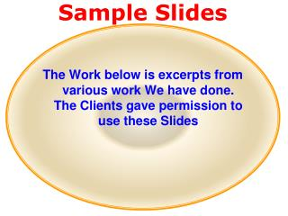 Sample Slides