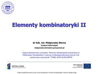 Elementy kombinatoryki II