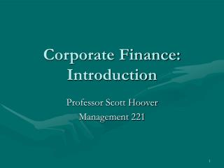 Corporate Finance: Introduction