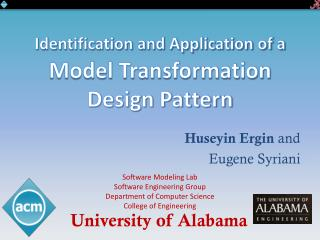 Identification and Application of a  Model Transformation Design Pattern