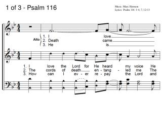 1 of 3 - Psalm 116