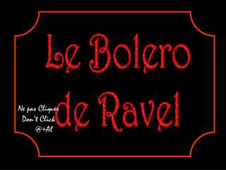 Le Bolero de Ravel