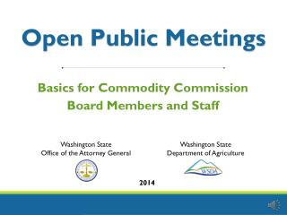 Open Public Meetings