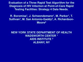Description of test data for 11 A1+/A2+ Western blot indeterminate specimens.