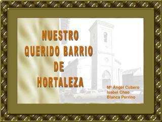 NUESTRO QUERIDO BARRIO  DE  HORTALEZA