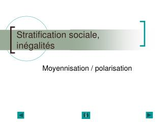 Stratification sociale, in galit s