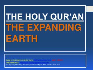 THE HOLY QUR'AN  THE EXPANDING EARTH