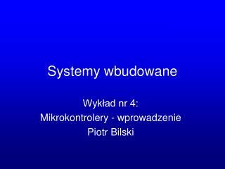 Systemy wbudowane