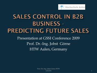 Sales  Control  in B2B Business -  Predicting  Future Sales