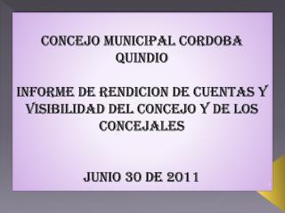 CONCEJO MUNICIPAL CORDOBA QUINDIO
