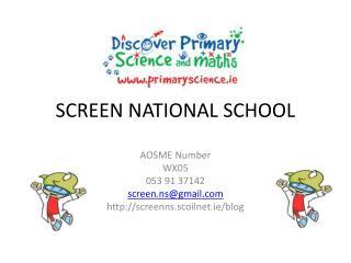 SCREEN NATIONAL SCHOOL