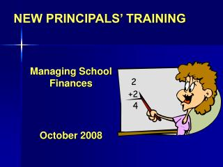 NEW PRINCIPALS' TRAINING