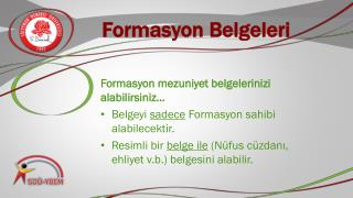 Formasyon Belgeleri