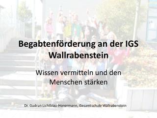 Begabtenförderung an der IGS Wallrabenstein