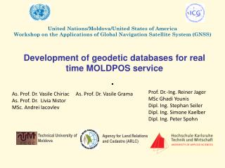 Development of  geodetic databases for real time  MOLDPOS  service