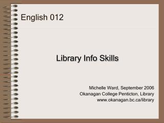 English 012