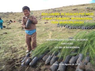 2013 CUMBRE DE ALCALDES PERUANOS II FERIA Y CONGRESO INTERNACIONAL PARA MUNICIPALIDADES