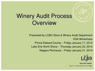 Winery Audit Process Overview